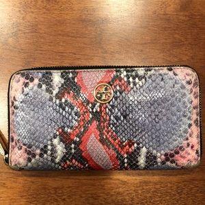 Tory Burch snakeskin wallet